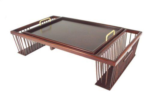 In-bed breakfast tray and adjustable tilt up reading table