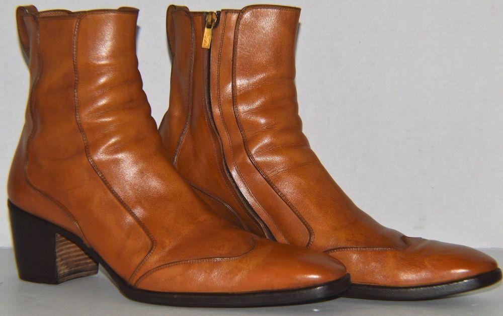 Yves Saint Laurent YSL Tom Ford Tan Johnny Leather Boots SZ US 11.5 EU 44.5   yvessaintlaurent  AnkleBoots 7b3a9d5ccc92