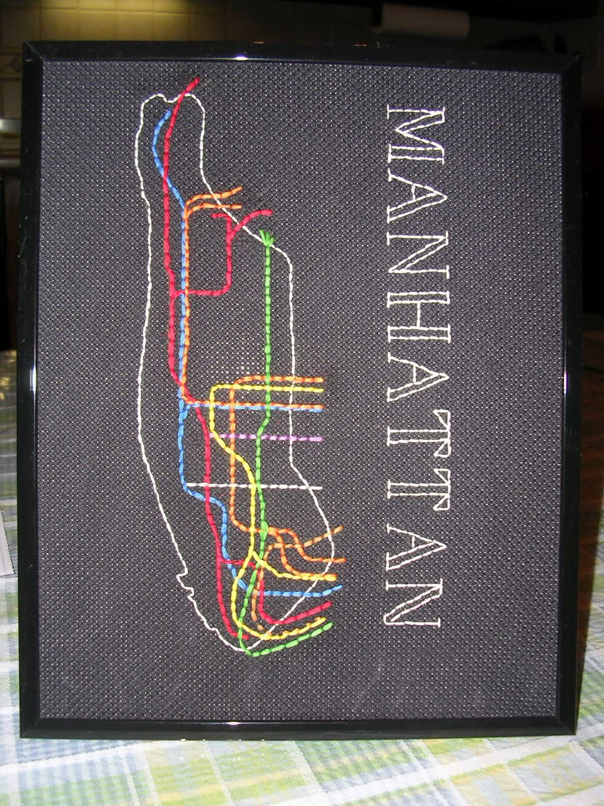 Creative Subway Map.Nyc Subway Map Needlework Creative And Crafty Nyc Subway Map