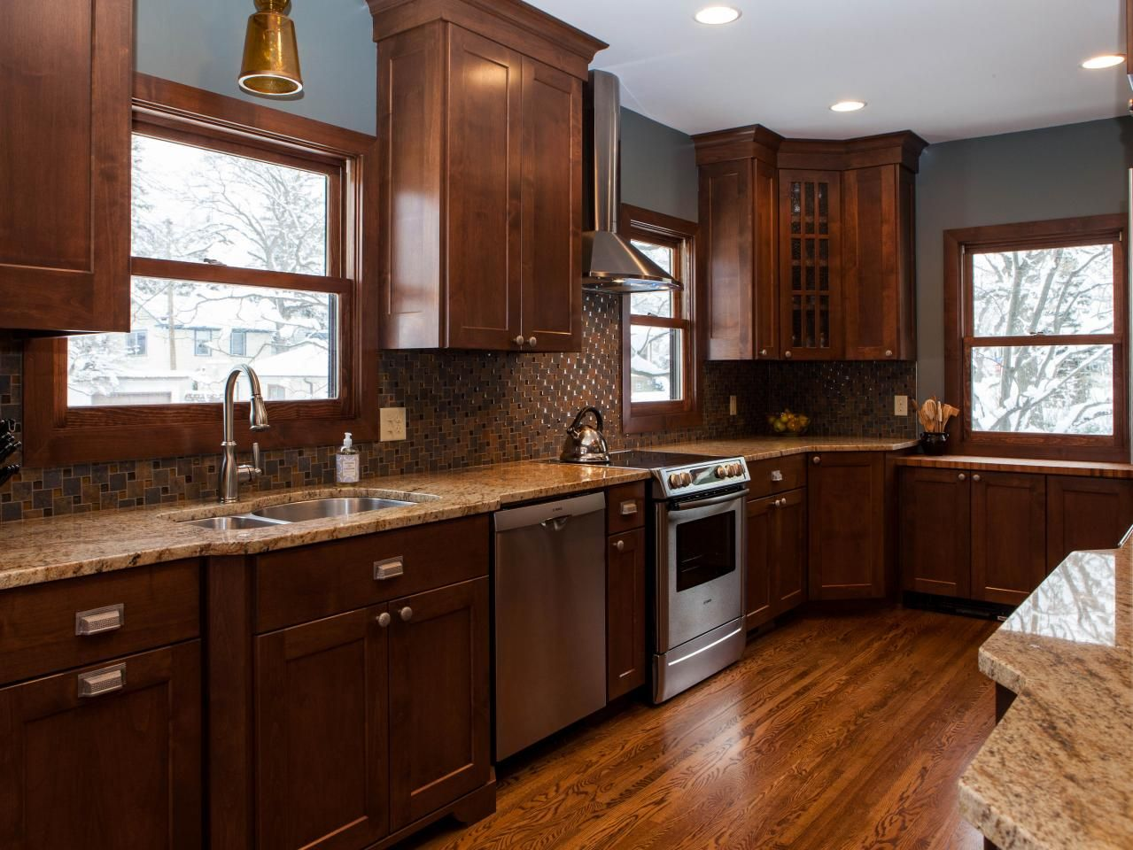 grey kitchen backsplash simple chocolate three ways craftsman style 1494