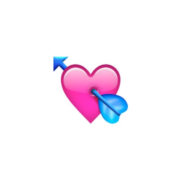 Heart With Arrow Liked On Polyvore Featuring Emoji Heart With Arrow Emoji Emoji Tattoo