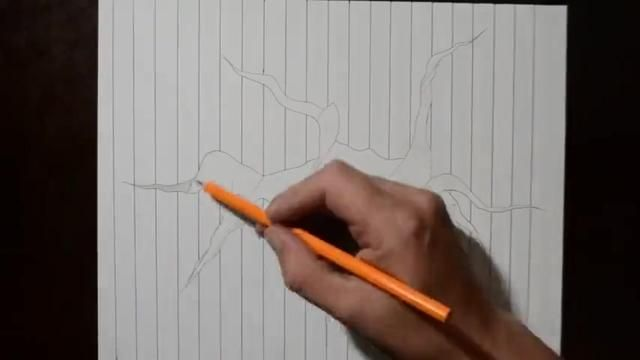 手書きで簡単に描ける3dトリックアートの書き方がスゴ イラスト