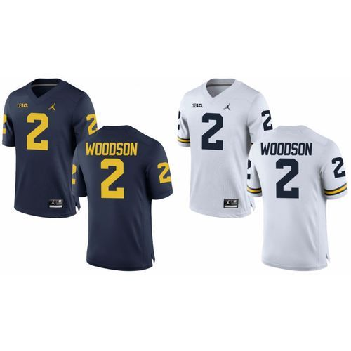 pretty nice 4a6d2 c32fa Michigan Wolverines Charles Woodson #2 Football Replica ...
