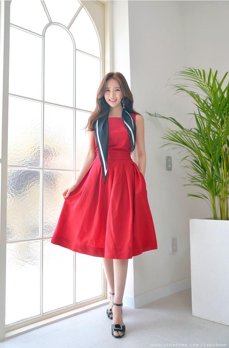 Back pleated detail linen flared dress in nishtha pinterest
