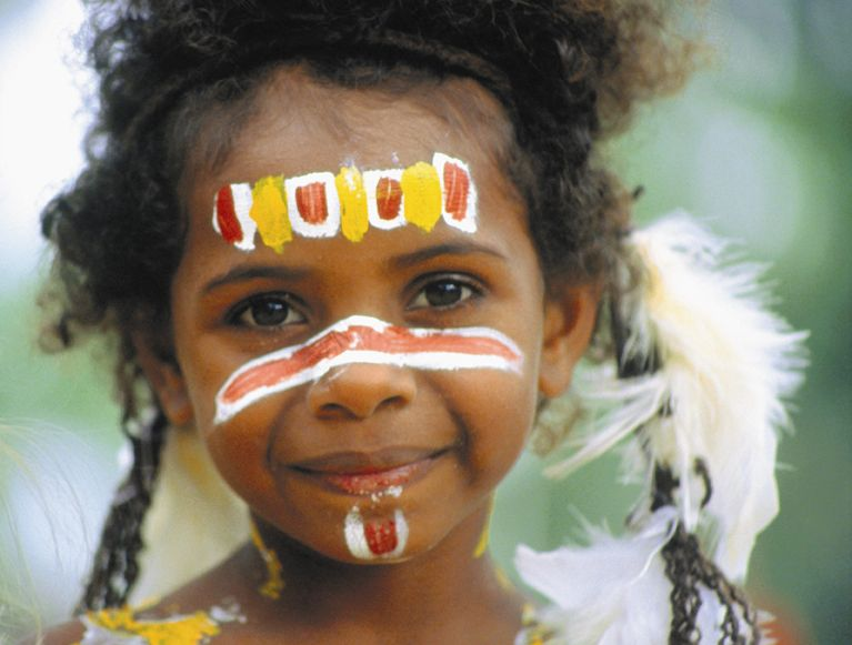 Aboriginal White Face Paint