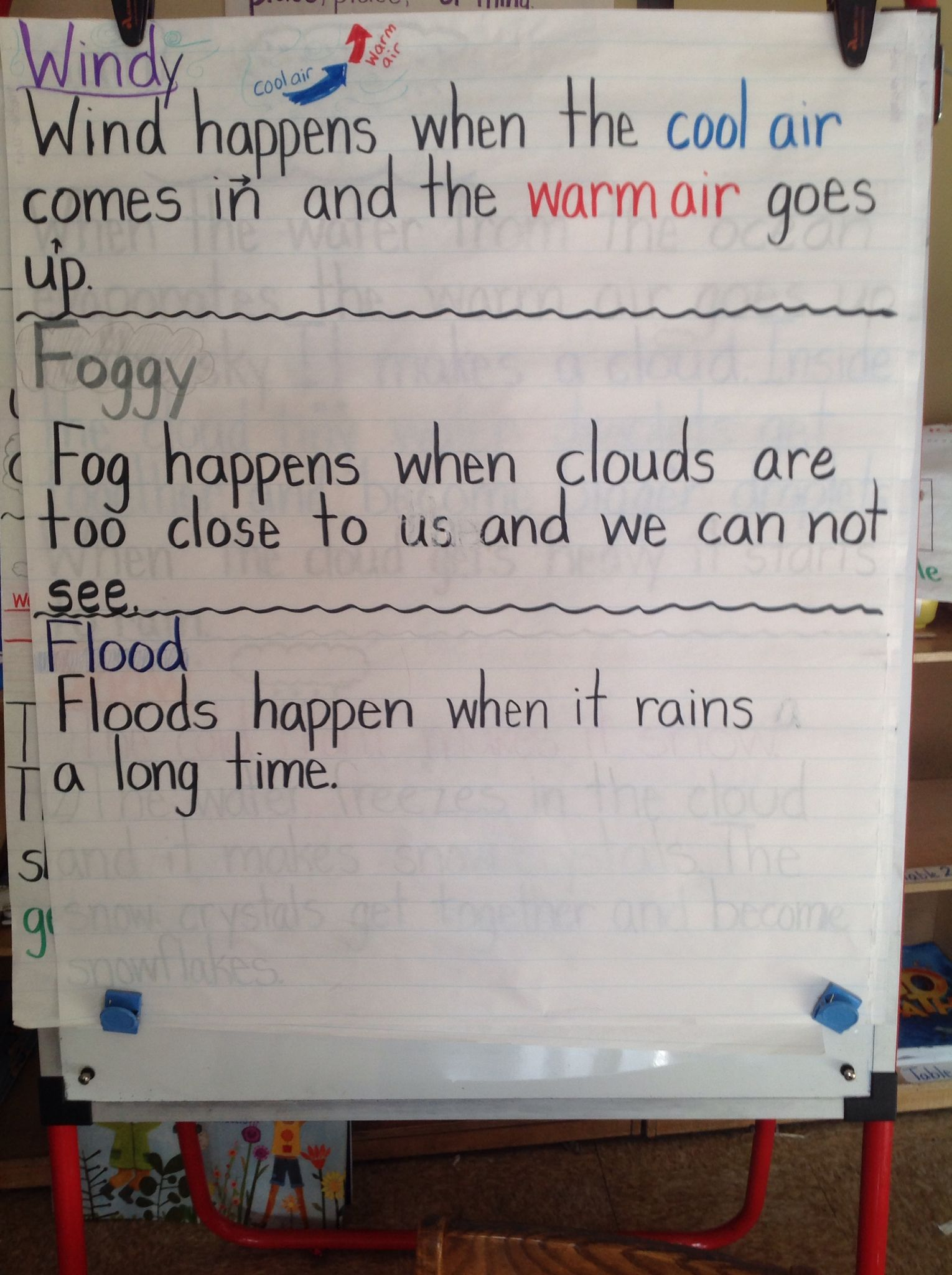 Kindergarten ReadyGen Unit 3 Weather Words and What They Mean by Gail  Gibbons..ESL classroom