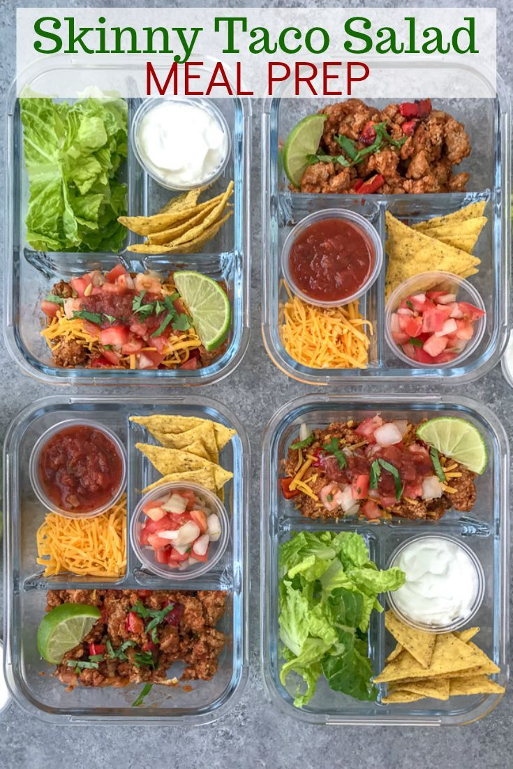 Skinny Taco Salad - Meal Prep #healthylunches