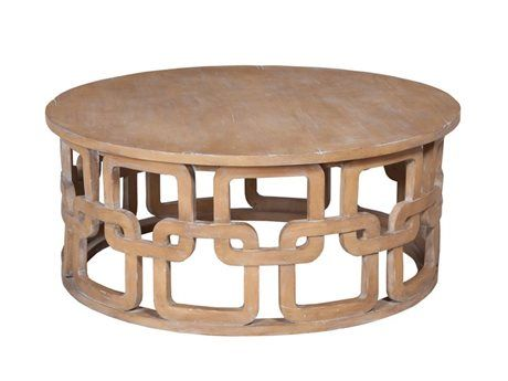 Guild Master 42  Round Artisan Stain Newport Cocktail Table