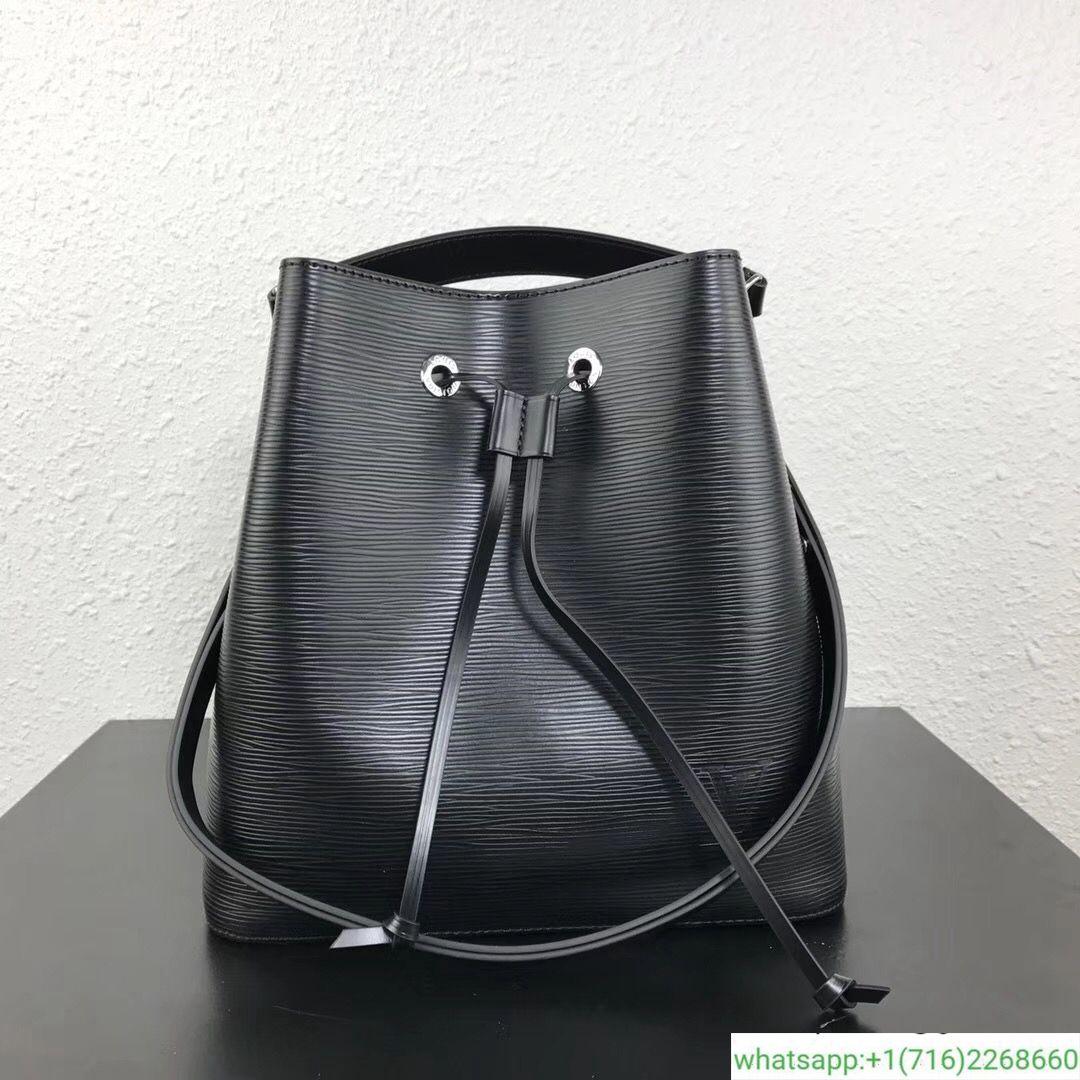 59f24714bd55 Louis Vuitton Epi Leather Neonoe Bucket Bag M54366 Noir 2018