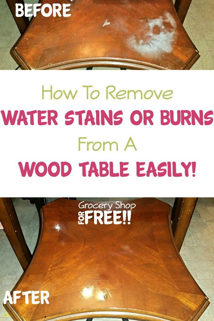 How To Remove Water Stains Or Burns From A Wood Table