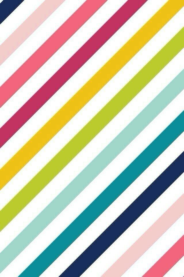 Colorful Diagonal Stripes Wallpaper