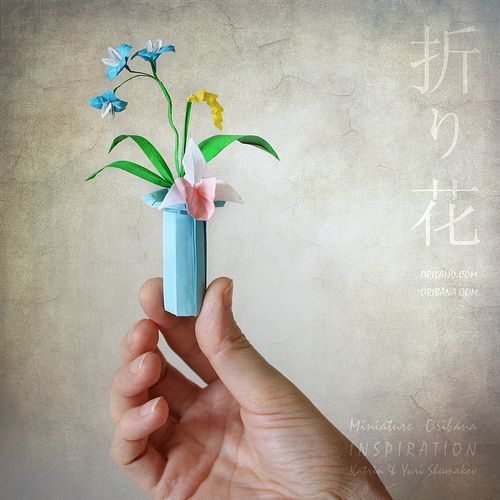 Miniature Oribana Inspiration Paper Flower Arrangements