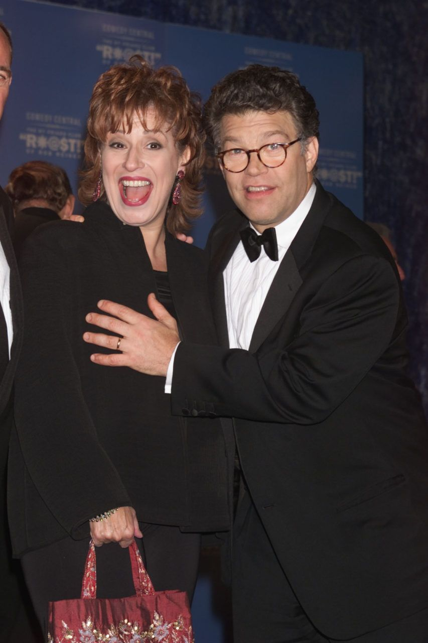 'It was disappointing to hear this about Al Franken,' Behar said on 'The View' about a photo of Franken groping Leeann Tweeden. (Ha ha ha ha ha ha ha ha No need worry about Joy's phychy.... she's loving the attention....only kind she can get!!)