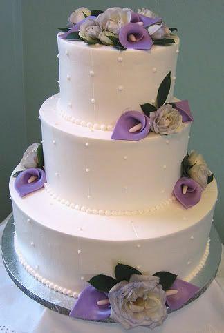 Purple Calla Lily Wedding Cake Calla Lily Wedding Cake Purple