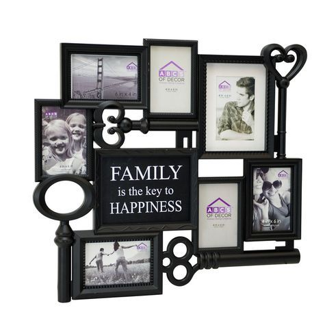 7 Patterm Photo Frames Hanging Family Love Collage Picture Aperture Home Decor !