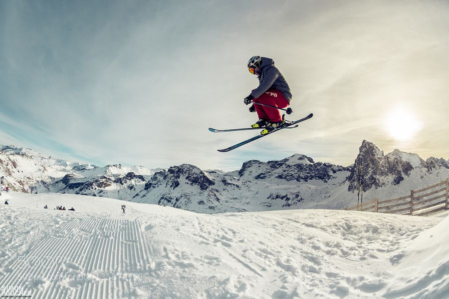 ski freestyle by MountainsPhotography