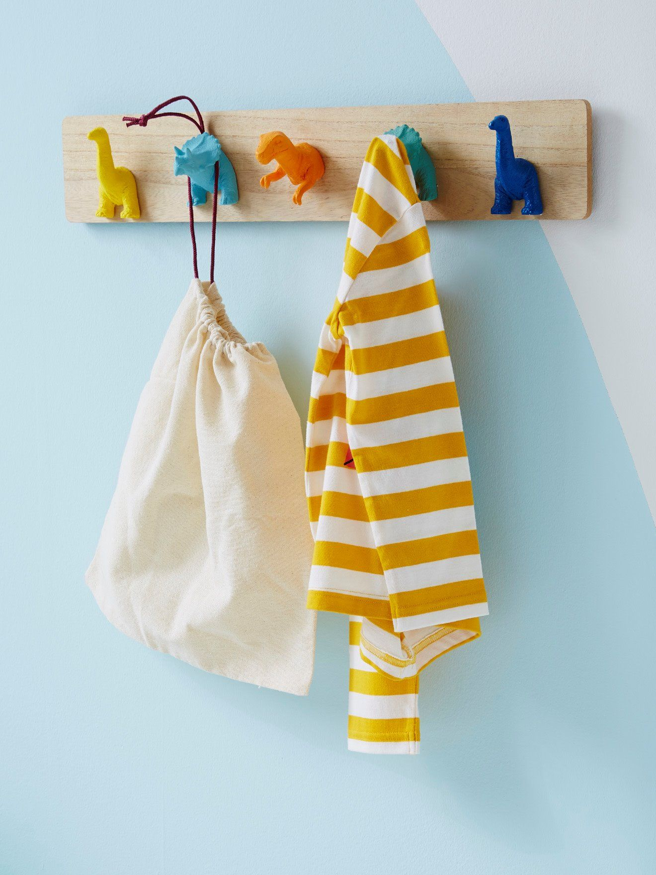 Coat Rack with Pegs, Dinosaurs - beige light solid with design, Bedding & Decor | Vertbaudet