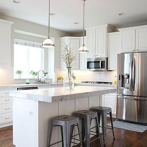 Slim Island With Seating Cute Quaint Kitchen Kitchen