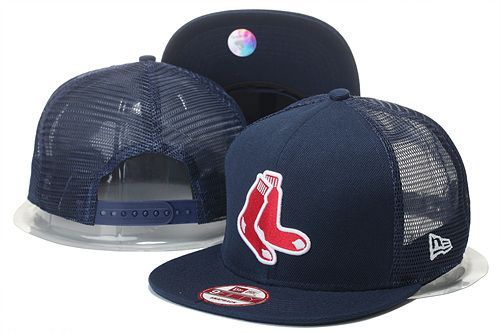 09381d1364f Boston Red Sox Snapbacks Caps Navy Breathable Mesh