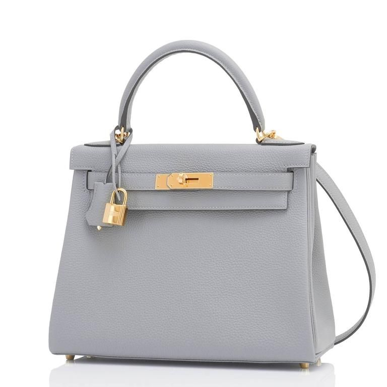 6a307c1cb999 Hermes Gris Mouette 28cm Kelly Bag Togo Grey Gold Hardware in 2019 ...
