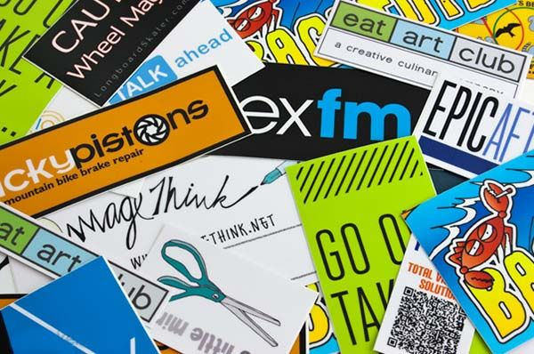 Vinyl rectangle stickers are made exactly to your design print perfect stickers with full bleed or