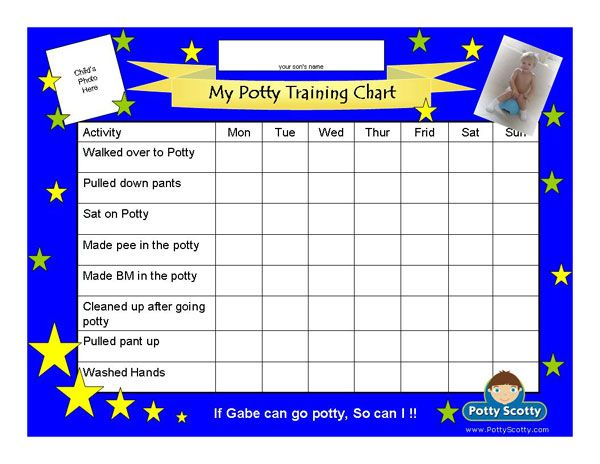 Potty scotty potty training chart with activities potty training