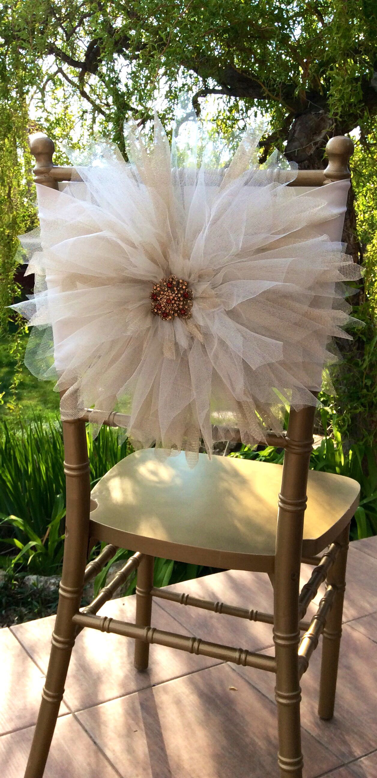New tulle chair decoration  - by FloraRosa Design