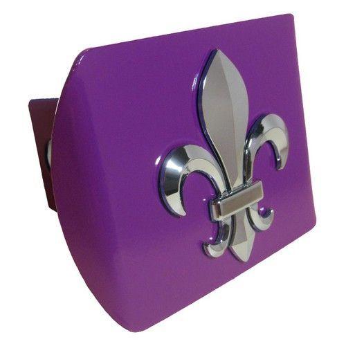 3D Fleur de Lis Purple Hitch Cover