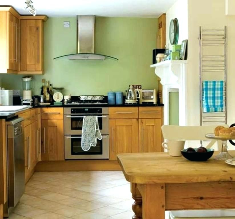 Sage Green Kitchen With Oak Cabinets Green Kitchen Walls Bright Green Kitchen Walls Green Kitc Green Kitchen Walls Sage Green Kitchen Walls Kitchen Wall Colors