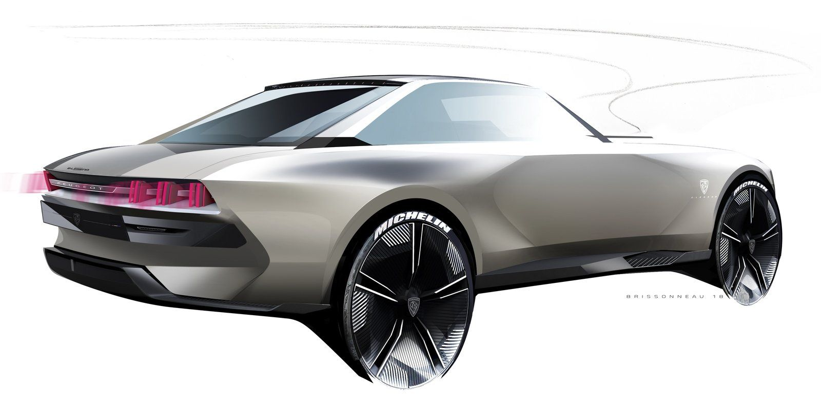 You Might Spot Electrified Peugeot Sports Cars Ripping The Roads As Early As 2020 Top Speed Concept Car Design Car Automotive Design
