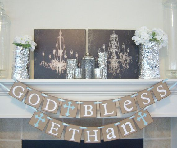 Baptism Banner God Bless This Child Personalized Name