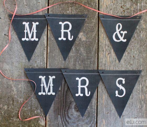 Mr Mrs Banner Free Printable