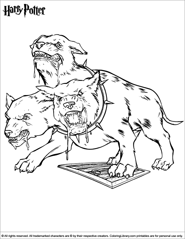 three headed beast coloring pages - photo#13