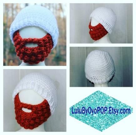 Best Crochet Beanie With Beard Handmade Ideas #crochetedbeards