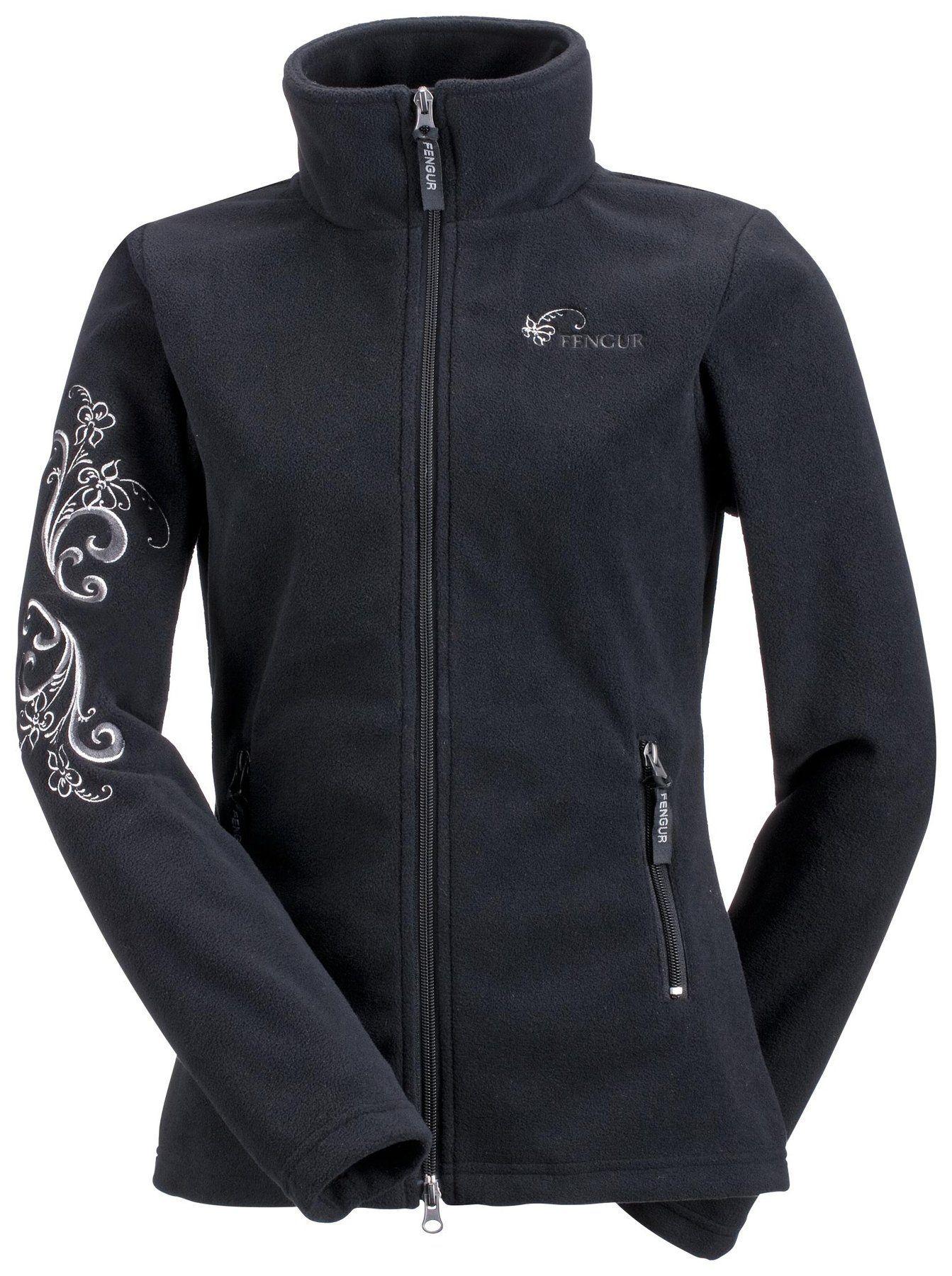 Fleece jacket summer flower fleece jackets kramer equestrian
