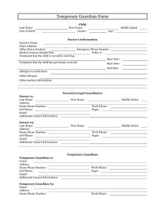 The temporary guardianship form is a free printable table that the temporary guardianship form is a free printable table that allows parents and legal guardians solutioingenieria Images