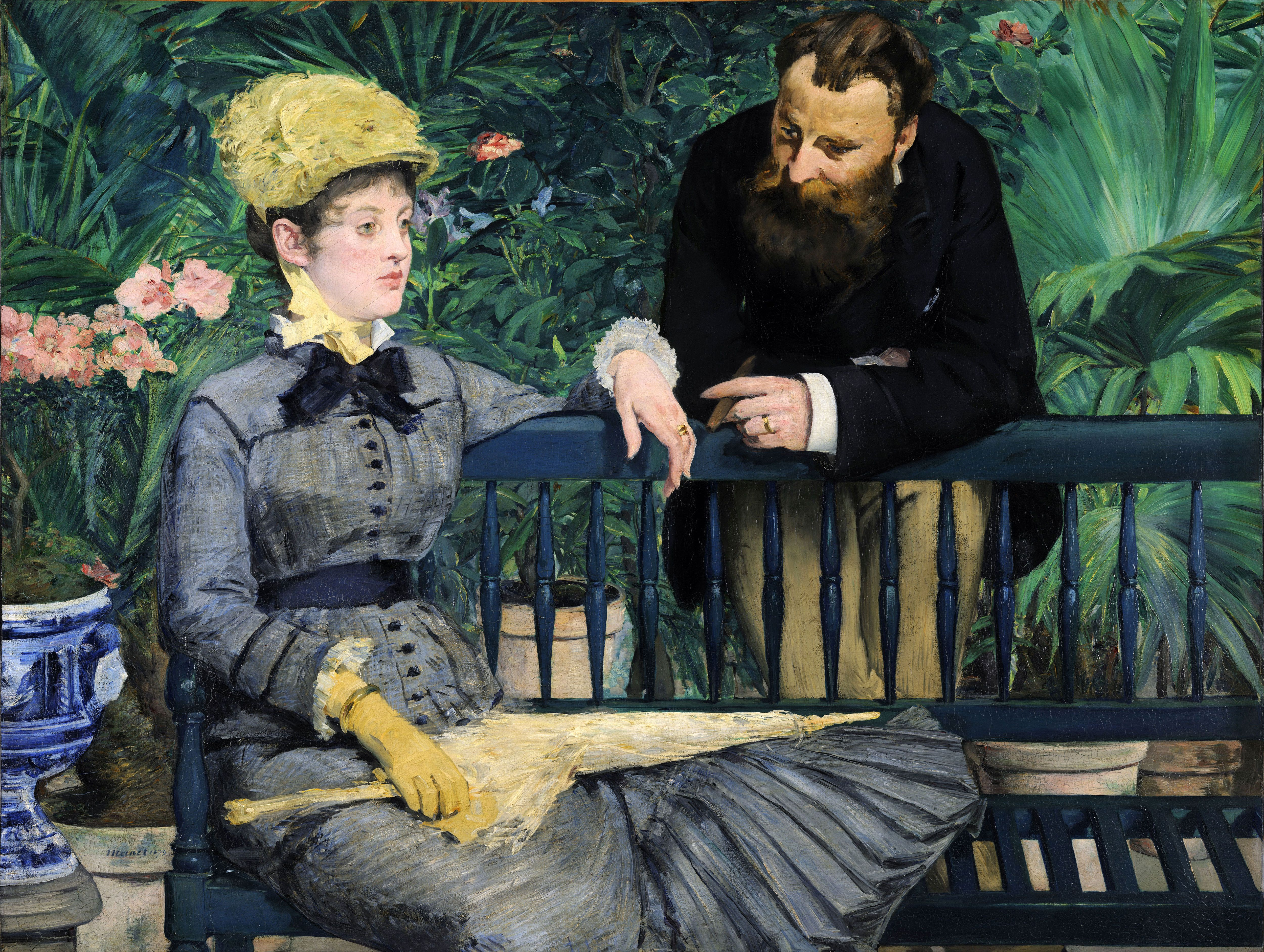 Edouard Manet, In The Conservatory, 1878 1879