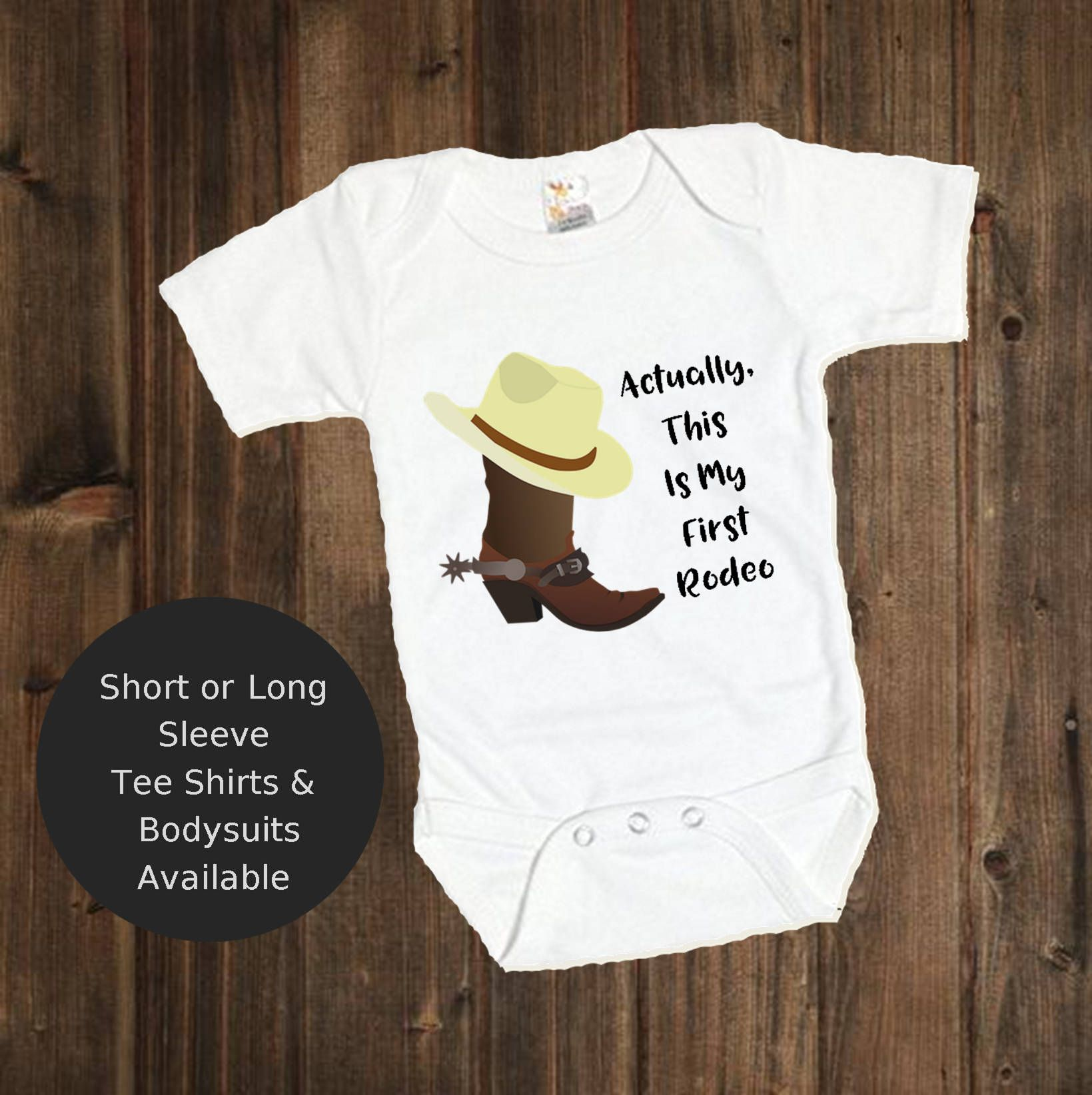 My First Rodeo Shirt Rodeo Baby Boy Tee Cowboy Boots Shirt
