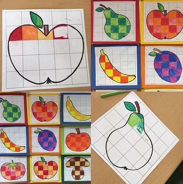 Rasterbilder Obst und Gemüse – Unterrichtsmaterial im Fach Kunst