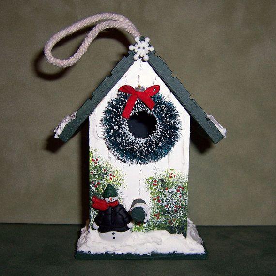 Christmas Birdhouses Crafts.Christmas Birdhouse Birdhouses Christmas Bird