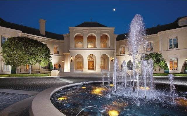 water fountain stunning french chateau style mansion in los angeles idesignarch interior design - Mansion Architectural Styles