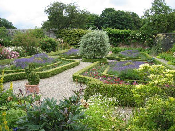 The knot garden at Benvarden Garden, Ballymoney, County ...