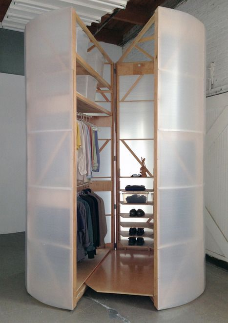 Tuberoom Portable Walk In Closet by Tom Villa   Portable furniture, Portable furniture design ...