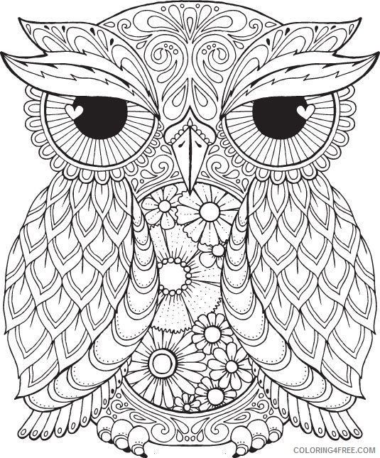 Owl Mandala Coloring Pages Owl Mandala Coloring Pages For Adults
