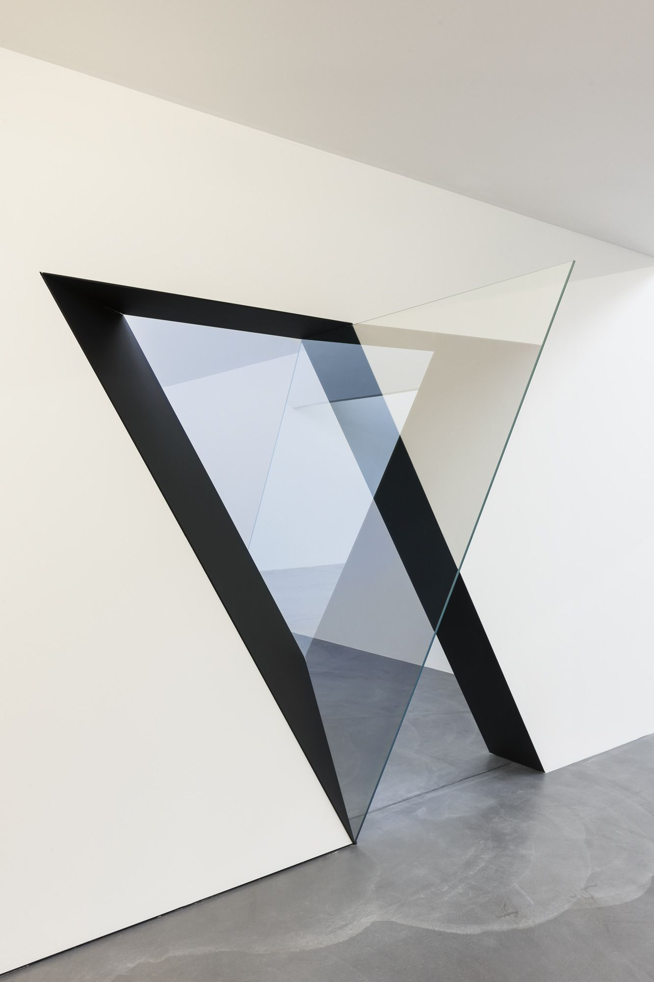Geometric and mirrored wall portals switzerland and architecture