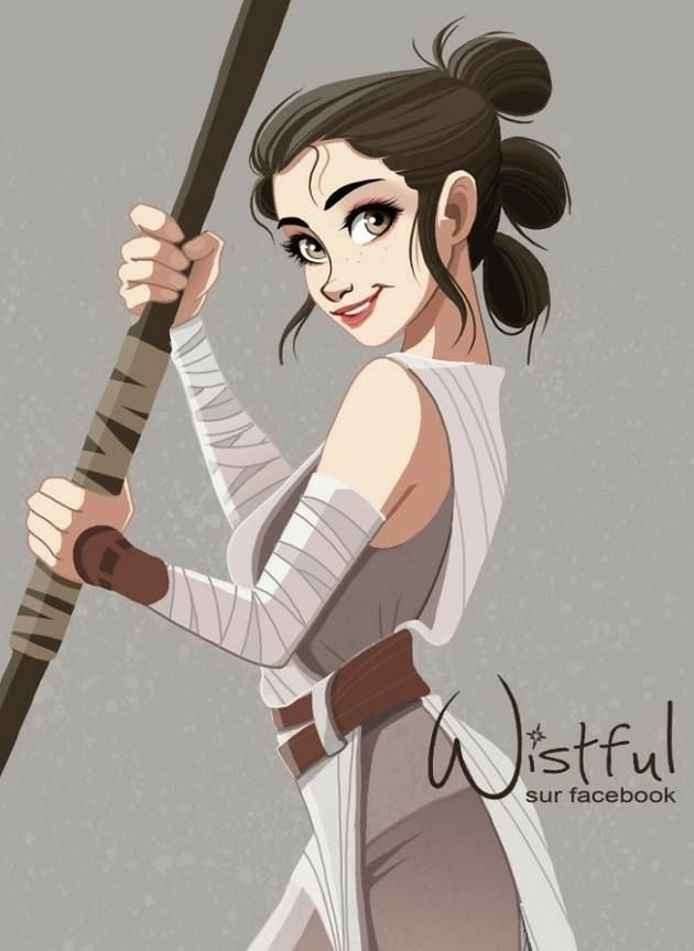 Rey By Wistful Art Facebook Star Wars Painting Star Wars