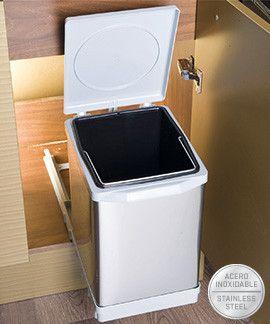 Cubo Basura 25 L Apertura Automática Mas Masiá Cubo De Basura Cocina Reciclada Basura