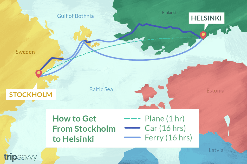 How To Travel From Stockholm To Helsinki By Plane Ferry And Car Helsinki Stockholm Finland