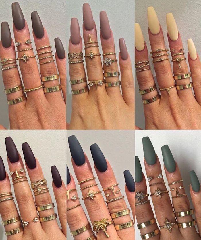 Light Blue Acrylic Nails Squoval