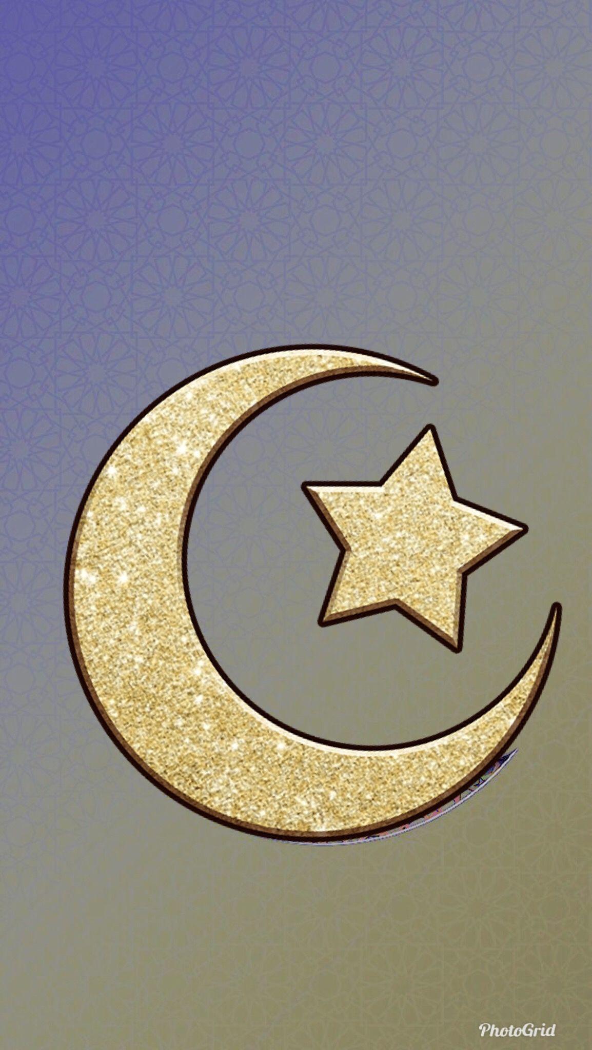 هلال نجمه رمضان كريم Ramadan Decorations Ramadan Crafts Gold Stars